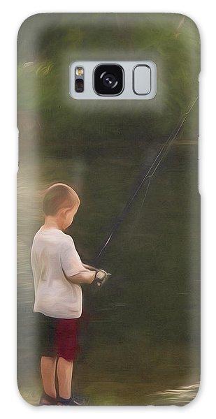 Little Boy Fishing Galaxy Case