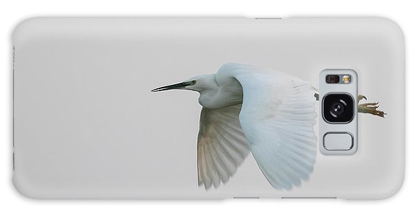 Little Egret Evening Flght Galaxy Case