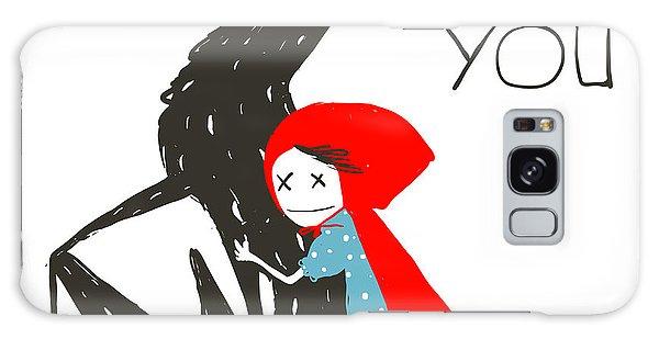 Dress Galaxy Case - Little Red Riding Hood Loves Black by Popmarleo
