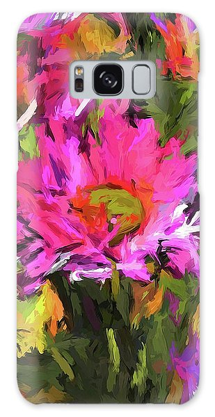 Lolly Pink Daisy Flower Galaxy Case