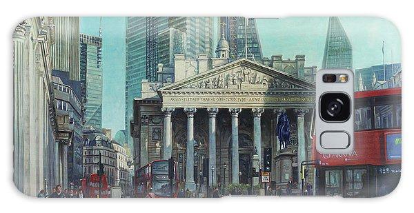 London City Bank Area In Sunny Autumn Galaxy Case