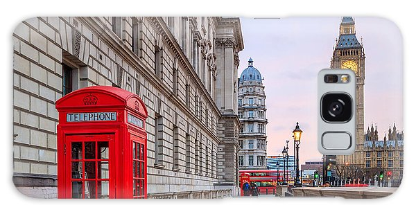 Houses Of Parliament Galaxy Case - London Skyline With Big Ben And Houses by F11photo