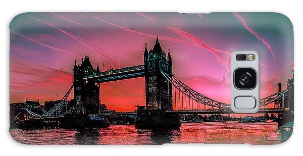London Tower Bridge Sunrise Pano Galaxy Case