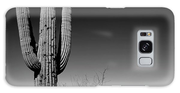 Cacti Galaxy Case - Lone Saguaro Square by Chad Dutson