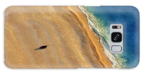 No-one Galaxy Case - Lonely Boat On A Beach With Aerial View by Astrostar