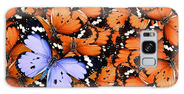Decorative Galaxy Case - Lonely Lilac Butterfly Among Set Of by Protasov An