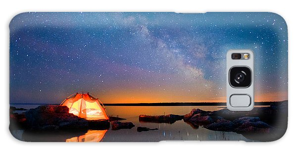 Spirituality Galaxy Case - Long Exposure Of Stars by Oceanfishing