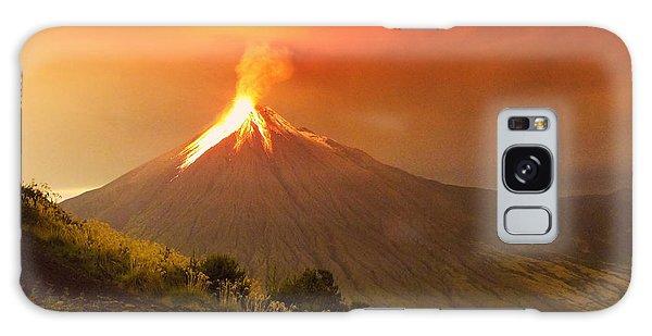 Geology Galaxy Case - Long Exposure Of Tungurahua Volcano by Ammit Jack
