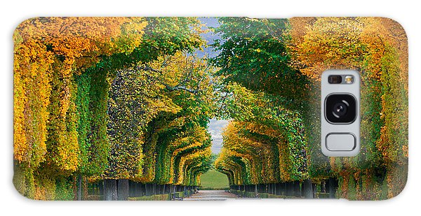 Horizontal Galaxy Case - Long Road In Autumn Park by Badahos