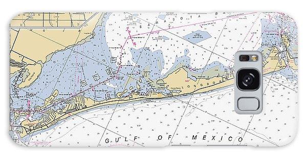 Longboat Ket Florida Noaa Nautical Chart Galaxy Case
