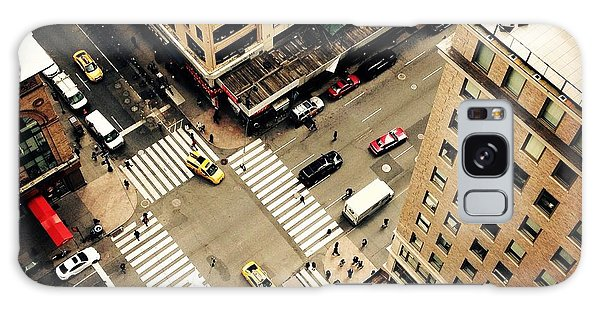 New York City Taxi Galaxy Case - Looking Down On To The Streets Of New by Heather Shimmin