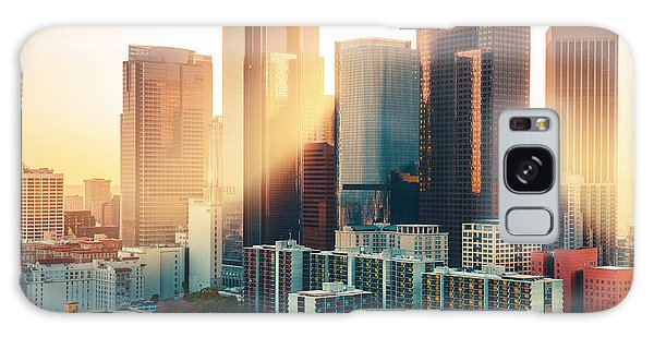 Los Angeles Galaxy Case - Los Angeles Downtown Skyline At Sunset by Im photo