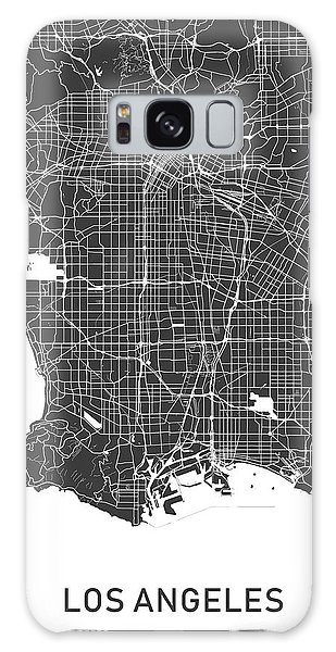 Usa Map Galaxy Case - Los Angeles Map Black And White by Delphimages Photo Creations