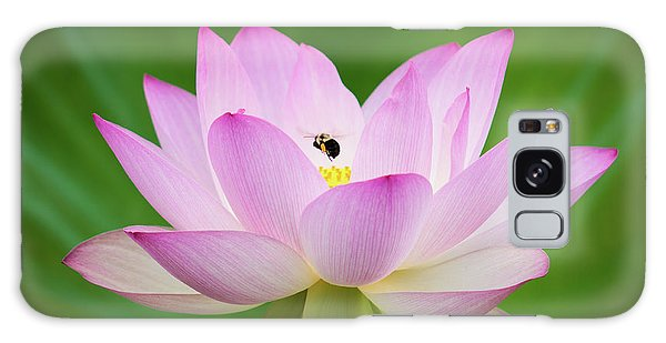 Lotus Flower And Bumble Bee Galaxy Case