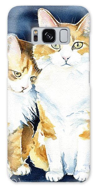Love Me Meow Cat Painting Galaxy Case
