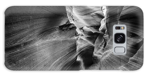 Southwest Usa Galaxy Case - Lower Antelope Canyon In Black And by Francesco Ferrarini