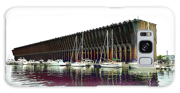 Lower Harbor Ore Dock At Marquette Michigan. Galaxy Case