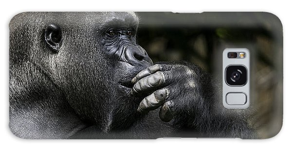 Horizontal Galaxy Case - Lowland Gorilla On The Epic Pose Of by Dptro
