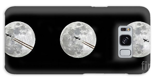 Lunar Silhouette In Sequence Galaxy Case