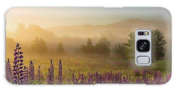 Lupine In The Fog, Sugar Hill, Nh Galaxy Case