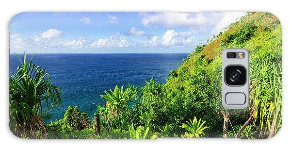 Chasm Galaxy Case - Lush Vegetation Along The Kalalau by Russ Bishop