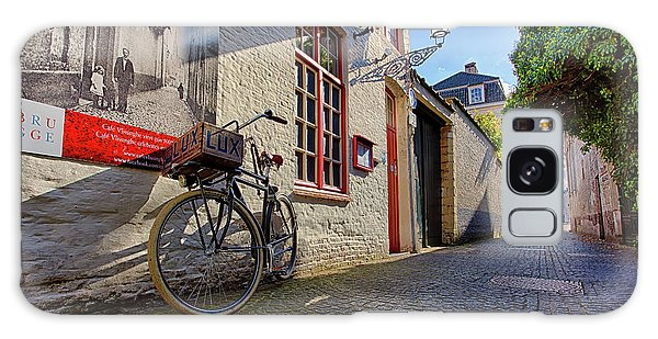 Galaxy Case featuring the photograph Lux Cobblestone Road Brugge Belgium by Nathan Bush
