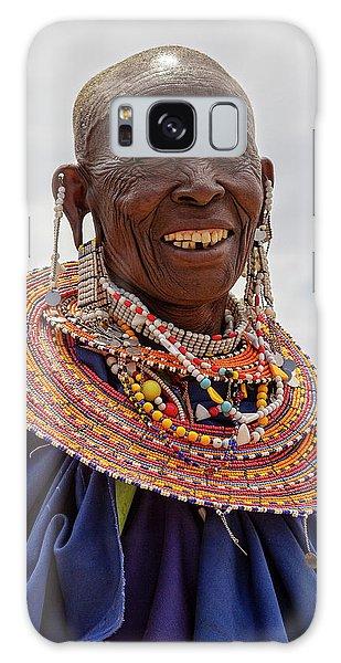 Maasai Woman In Tanzania Galaxy Case