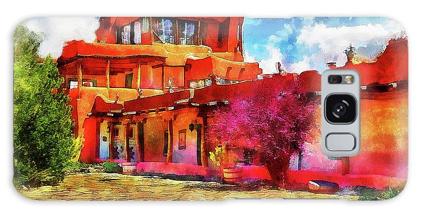 Mabel's Courtyard In Aquarelle Galaxy Case
