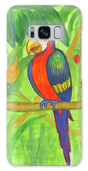 Macaw Parrot In The Wild Galaxy Case
