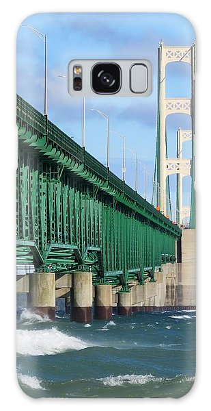 Mackinac Bridge And Waves Galaxy Case