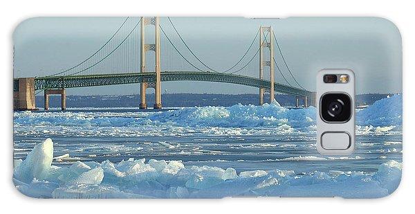 Mackinac Bridge In Ice 2161801 Galaxy Case