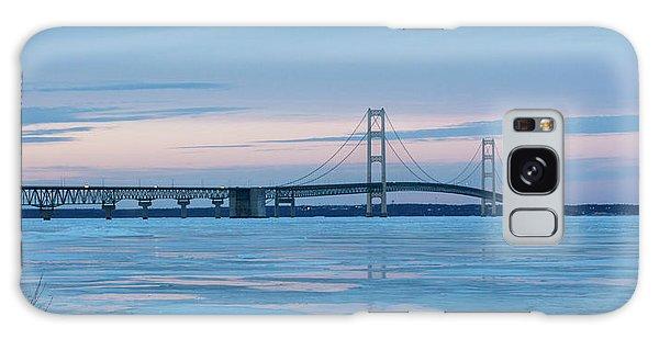 Mackinac Bridge In Ice 2161803 Galaxy Case