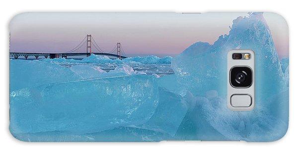 Mackinac Bridge In Ice 2161805 Galaxy Case