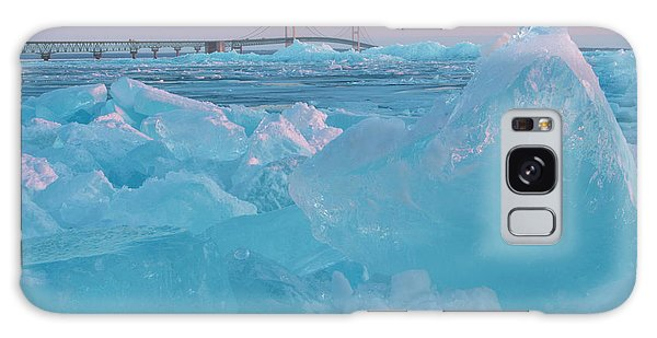 Mackinac Bridge In Ice 2161806 Galaxy Case