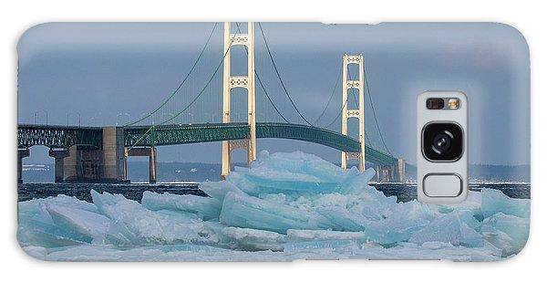 Mackinac Bridge In Ice 2161809 Galaxy Case