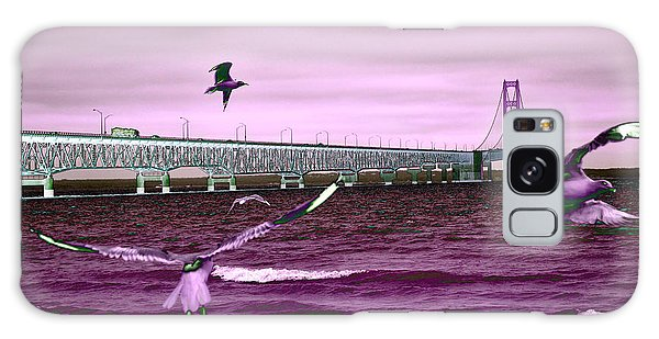 Mackinac Bridge Seagulls Galaxy Case