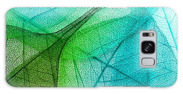 Decorative Galaxy Case - Macro Leaves Background Texture by Valentina Razumova