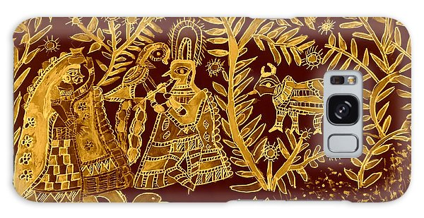 Madhubani Galaxy Case - Madhubani Art In Golden by Nick Photography