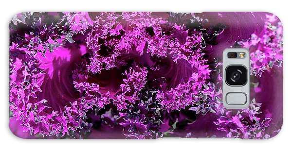 Galaxy Case featuring the photograph Magenta Cabbage by Mark Shoolery