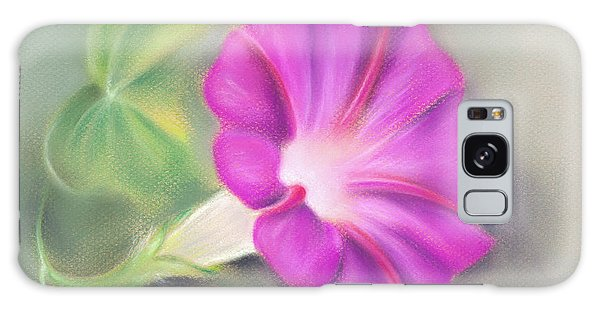 Magenta Morning Glory And Leaf Galaxy Case