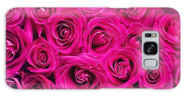 Magenta Roses Galaxy Case