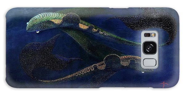Galaxy Case featuring the painting Magic Fish by James Lanigan Thompson MFA