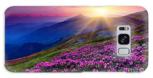 Ecology Galaxy Case - Magic Pink Rhododendron Flowers On by Creative Travel Projects