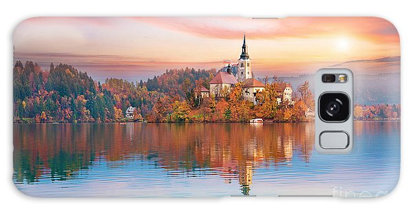 Scenery Galaxy Case - Magical Autumn Landscape With The by Andrij Vatsyk
