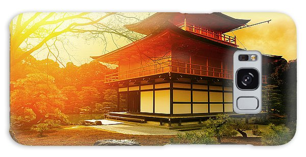 Historical Galaxy Case - Magical Sunset Over Kinkakuji Temple by Vvvita