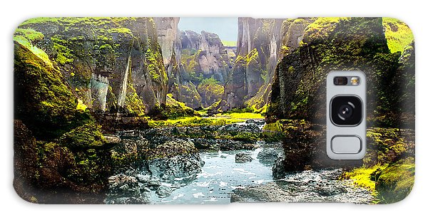 Magnificent Rural Canyons Montage Galaxy Case