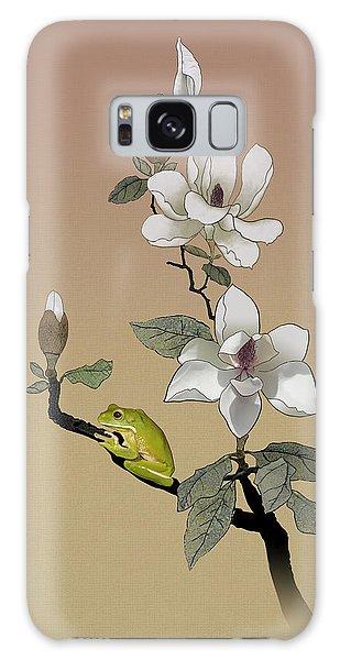 Magnolia And Tree Frog Galaxy Case