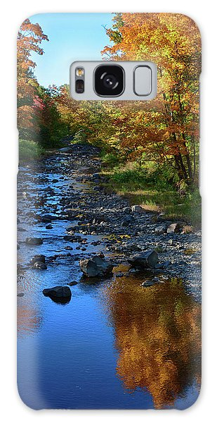 Maine Fall Color Reflection Galaxy Case
