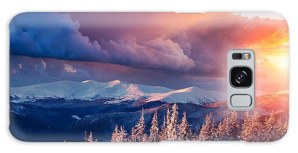 Scenery Galaxy Case - Majestic Landscape Glowing By Sunlight by Creative Travel Projects