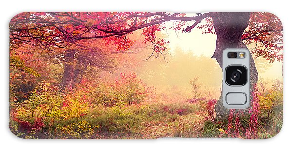 Scenery Galaxy Case - Majestic Landscape With Autumn Trees In by Creative Travel Projects